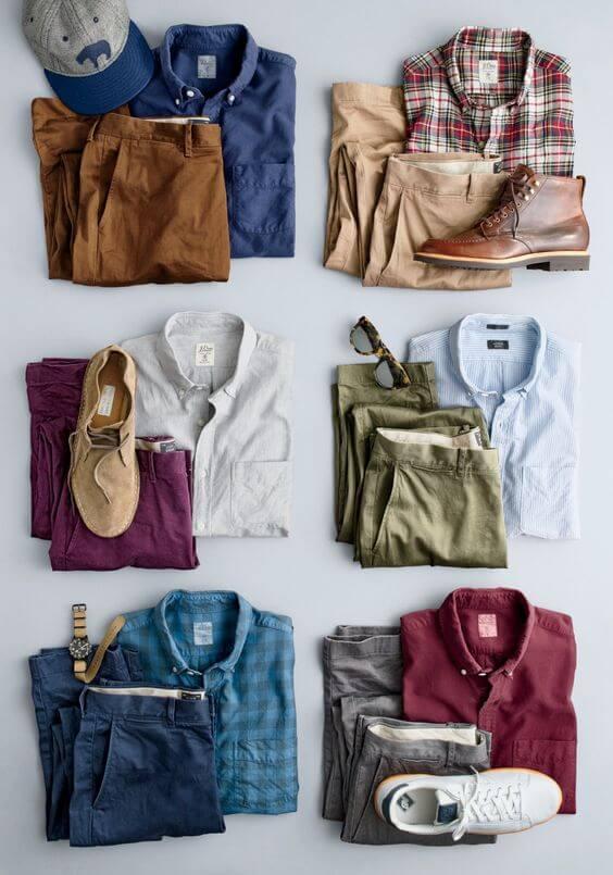 meskie ubrania kolorowe