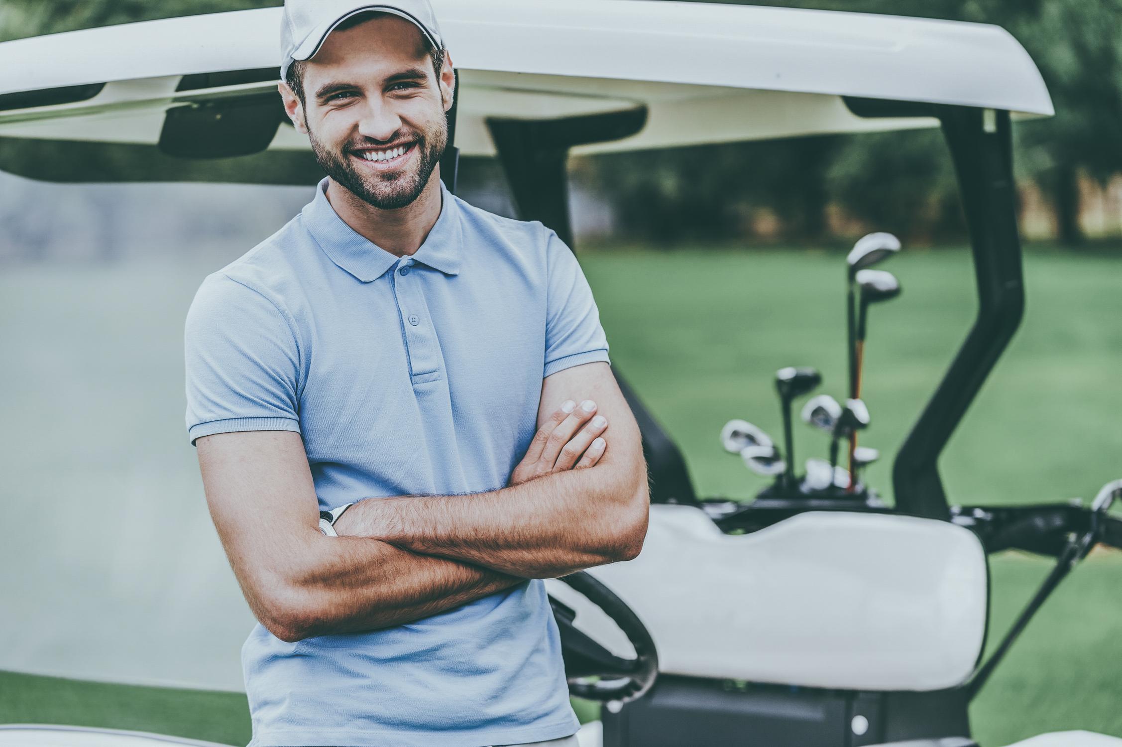 męska koszulka polo do gry w golfa